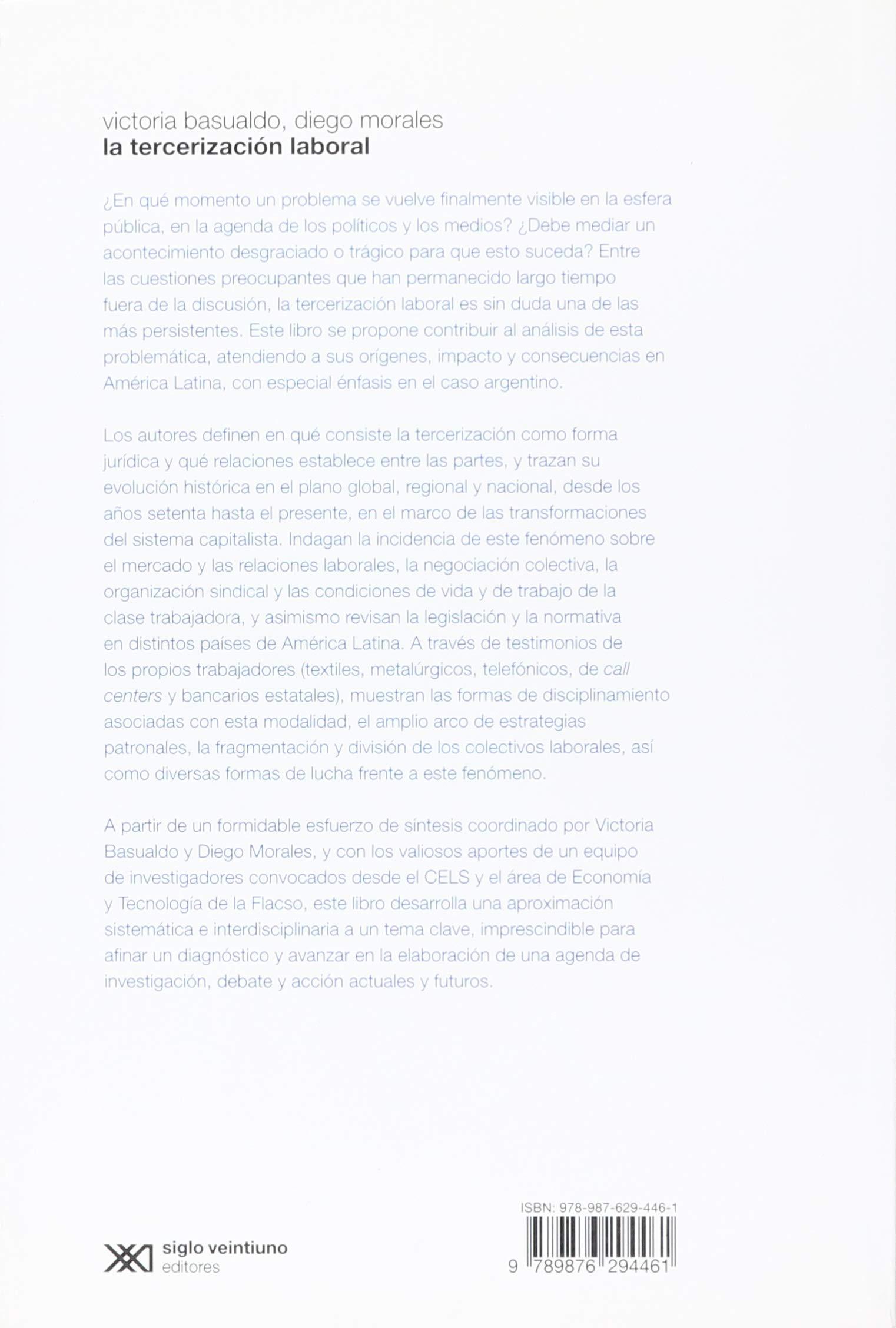 TERCERIZACION LABORAL, LA: VICTORIA Y MORALES, DIEGO (COORDS ...