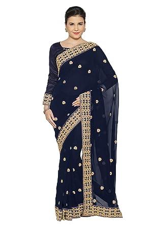 Bollywood Indische Kleider Damen Sari mit Ungesteckt ungesehen ...