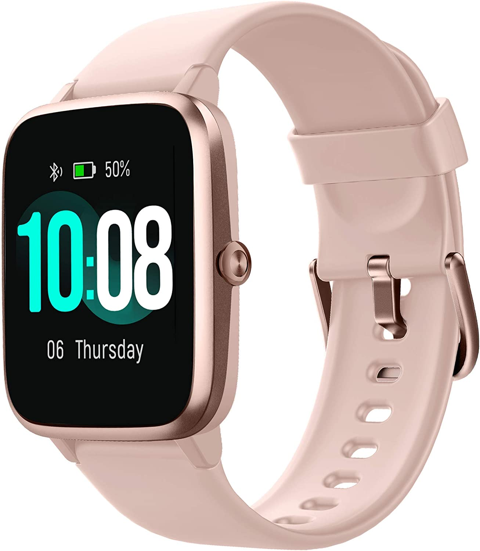 Smartwatch Bluetooth 5.0 Reloj Inteligente Mujer Impermeable IP68 GPS Sueño Pulsómetros Podómetro Caloría Rastreador Ejercicios Música Control Despertador Pantalla Táctil Completa para Android iPhone