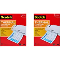 $78 » Scotch Thermal Laminating Pouches, 100-Pack, 8.9 x 11.4 inches, Letter Size Sheets (TP3854-100) Pack of 2