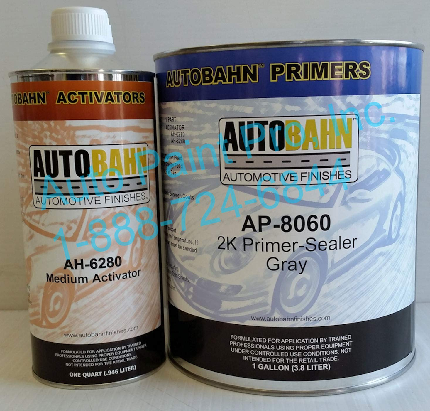 AUTOBAHN AP-8060 2K Primer Sealer Gray Restoration CAR Paint Supplies by AUTOBAHN (Image #1)