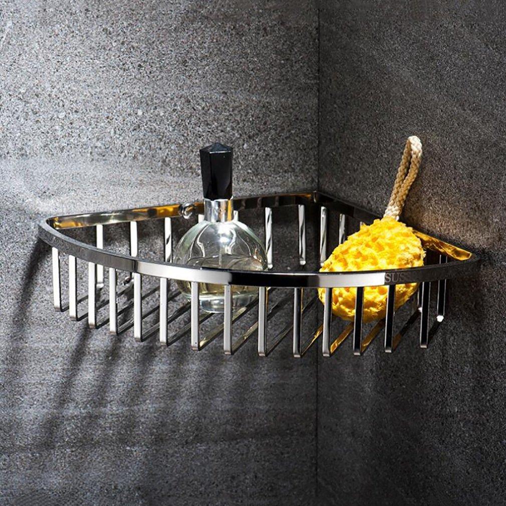 Hotel Storage Shelf, Bathroom Corner Frame Rack,Stainless Steel Torage Organizer,Kitchen Storage Basket,Wall Mount Finishing Holder
