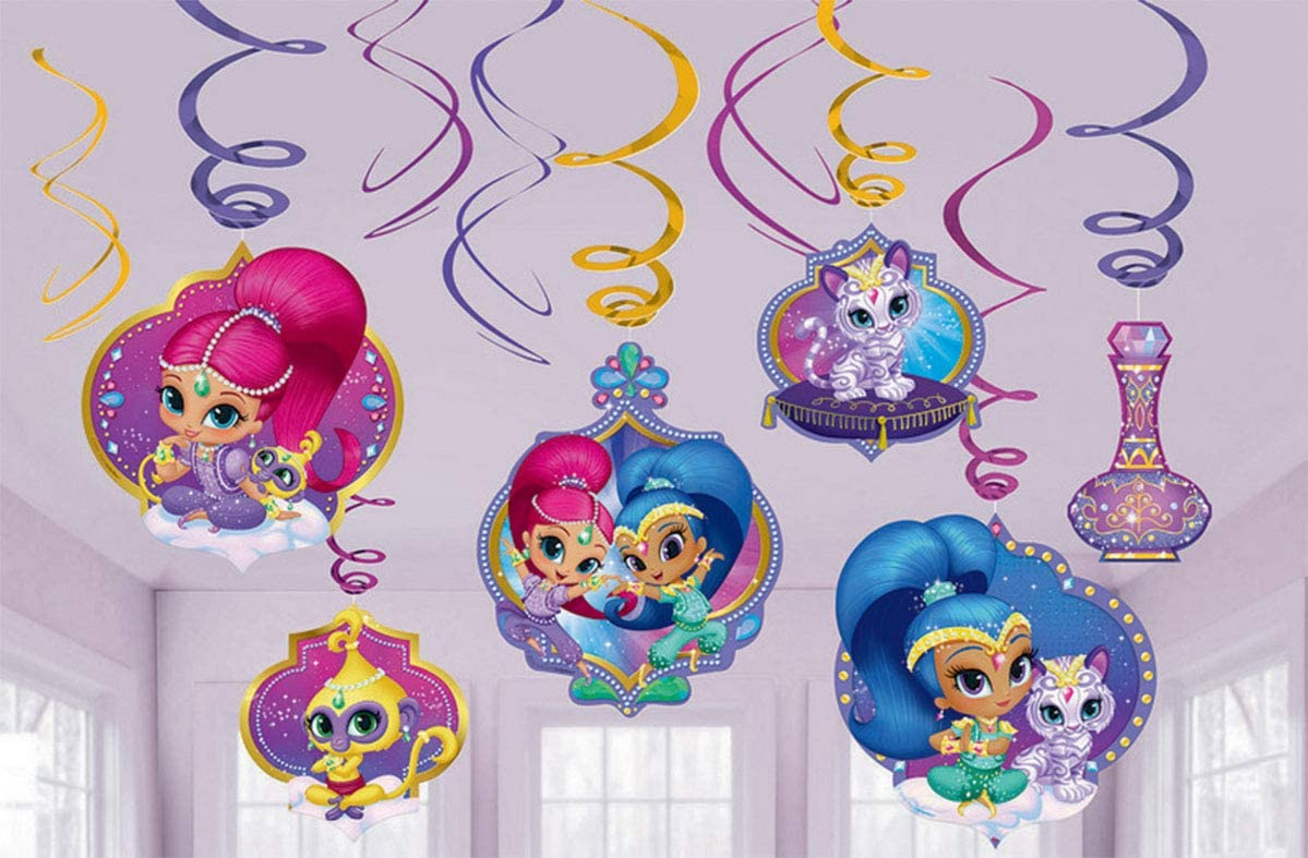 amscan 671653 Foil Swirl decoration | Shimmer and Shine™ Collection | Party Accessory 7