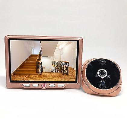 """Mirilla de puerta Digital 4,3"""" gran angular, HD con detección de movimiento"""