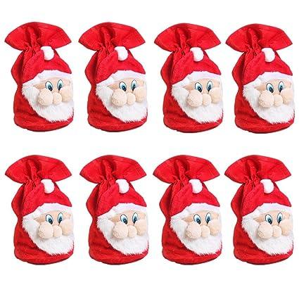 De Papá Noel bolsa de regalo, Zerowin rojo terciopelo bolsa ...