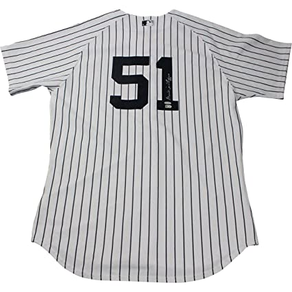 2aa98f5d Bernie Williams Autographed Signed New York Yankees Authentic Home Jersey  Autographed Signed on Back MLB Auth - Authentic Signature at Amazon's  Sports ...