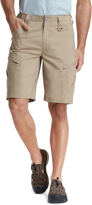 CQR Mens Hiking Tactical Shorts Quick Dry Fishing Shorts Lightweight Outdoor Rip-Stop EDC Assault Cargo Short