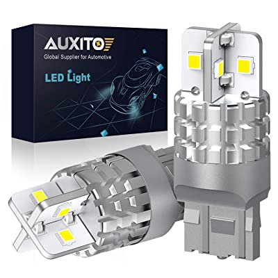 AUXITO 7440 7443 LED Bulb White LED Reverse Light W21W T20 Backup Light Brake Tail DRL Parking Light, 6000K, 3000LM, Pack of 2: Automotive
