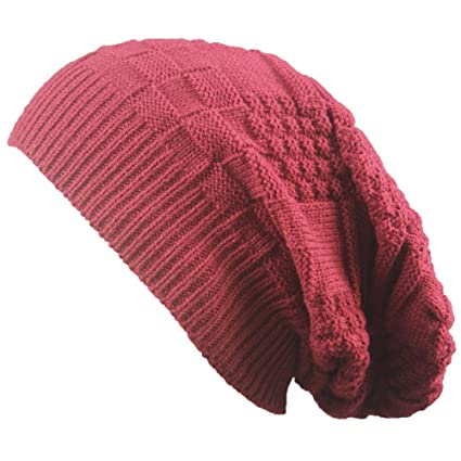d761e5a05bb Image Unavailable. Image not available for. Color  Clearance! Men Women  Knit Baggy Beanie Oversize Winter Hat Ski Slouchy Chic Cap ...