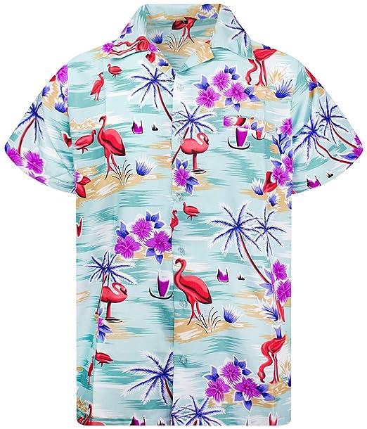 a4955f46 Amazon.com: Hawaiian Shirt for Men Funky Casual Button Down Very ...
