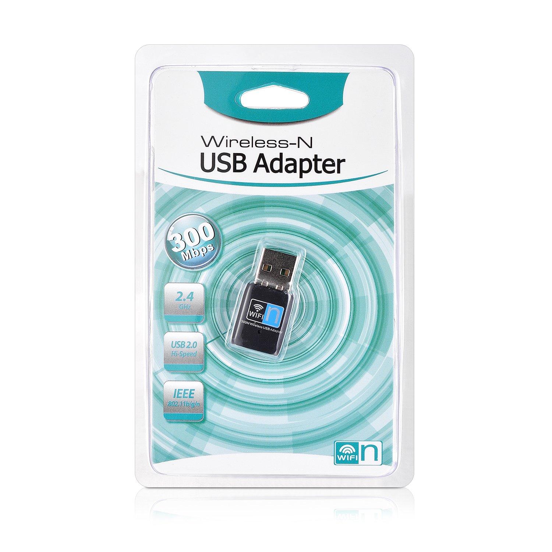 Mac et Linux n pour Windows iTher 300 Mbit s WLAN USB Stick R/éseau sans fil WiFi Dongle Stick Adaptateur r/éseau IEEE 802.11b g