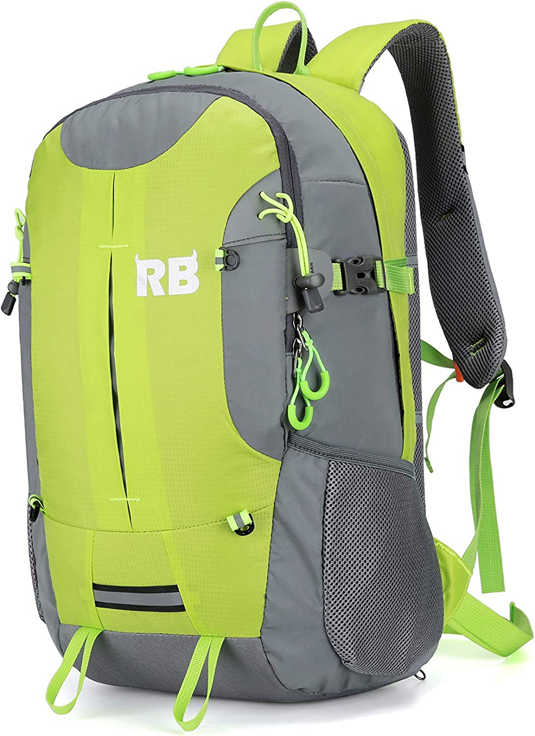 Reflective Backpack for riders and outdoor, Hi Viz fluor backpack for men, RiderBag Reflektor 35 G. Great for motorcycle and bike. Backpacks for running. Motorcycle backpack.