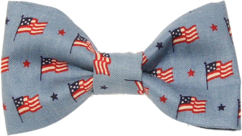 Toddler Boy 4T 5T Mini USA Flag Clip On Cotton Bow Tie