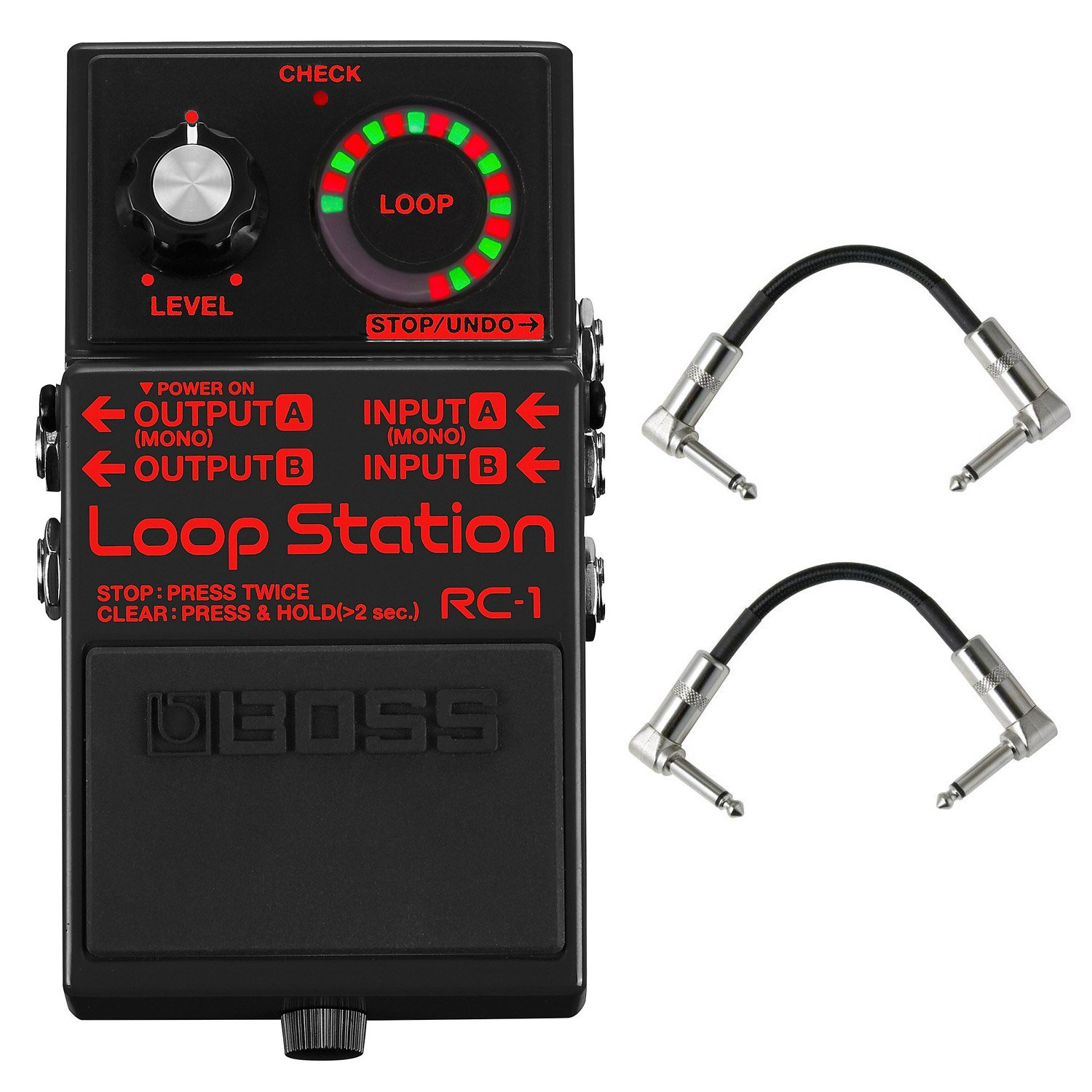 Boss RC-1-BK Loop Station - Limited Edition Black with Patch Cables