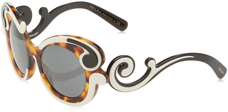82e665b0f0cd Prada Women s PR 23NS Sunglasses Ivory Havana   Grey 52mm at Amazon Women s  Clothing store