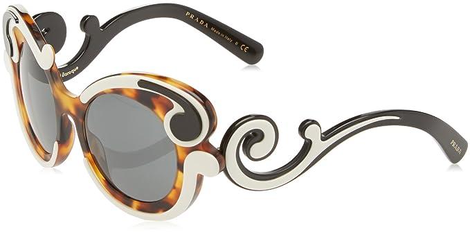 853da8f55356 Prada Women s PR 23NS Sunglasses Ivory Havana   Grey 52mm at Amazon ...