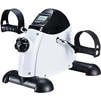 FITODO Mini Cyclette Esercizio del Pedale Esercizio Ciclo Pedale con Monitor LCD e volano Dentro per l'esercizio di Office e housec con Rilievo Antisdrucciolevole