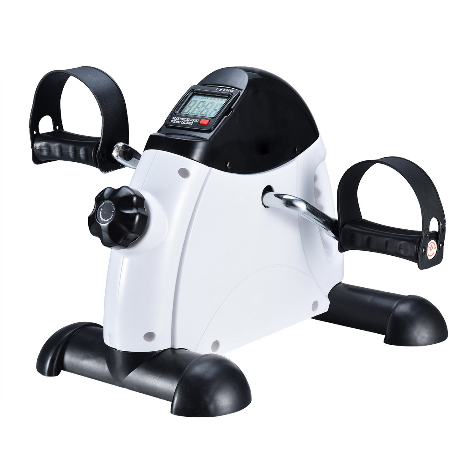 EXEFIT Mni Exercise Bike Pedal Exerciser Stationary Peddler with Digital LCD Monitor …