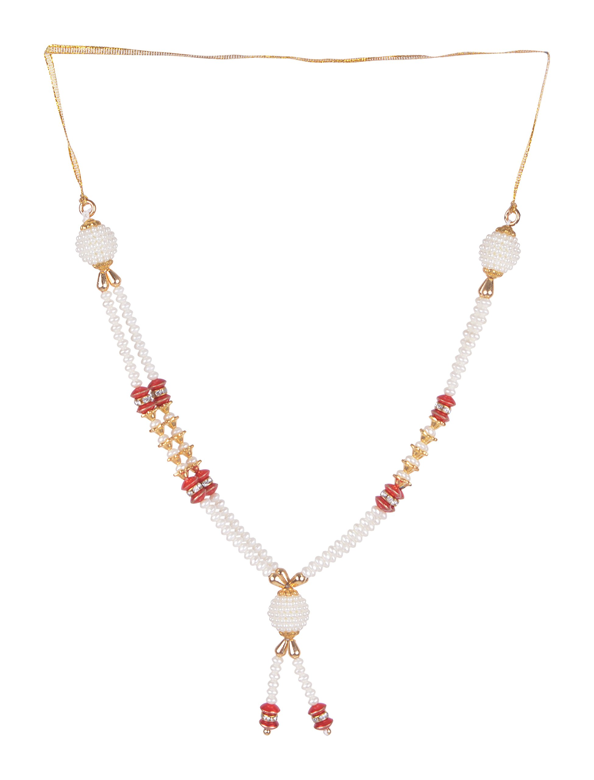Decoration Craft Plastic Beads Garland (24 cm + Ribbon)