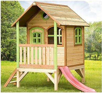 Axi – Casa de juegos de madera, modelo Tom, juegos de exterior / jardín para niños: Amazon.es: Bricolaje y herramientas