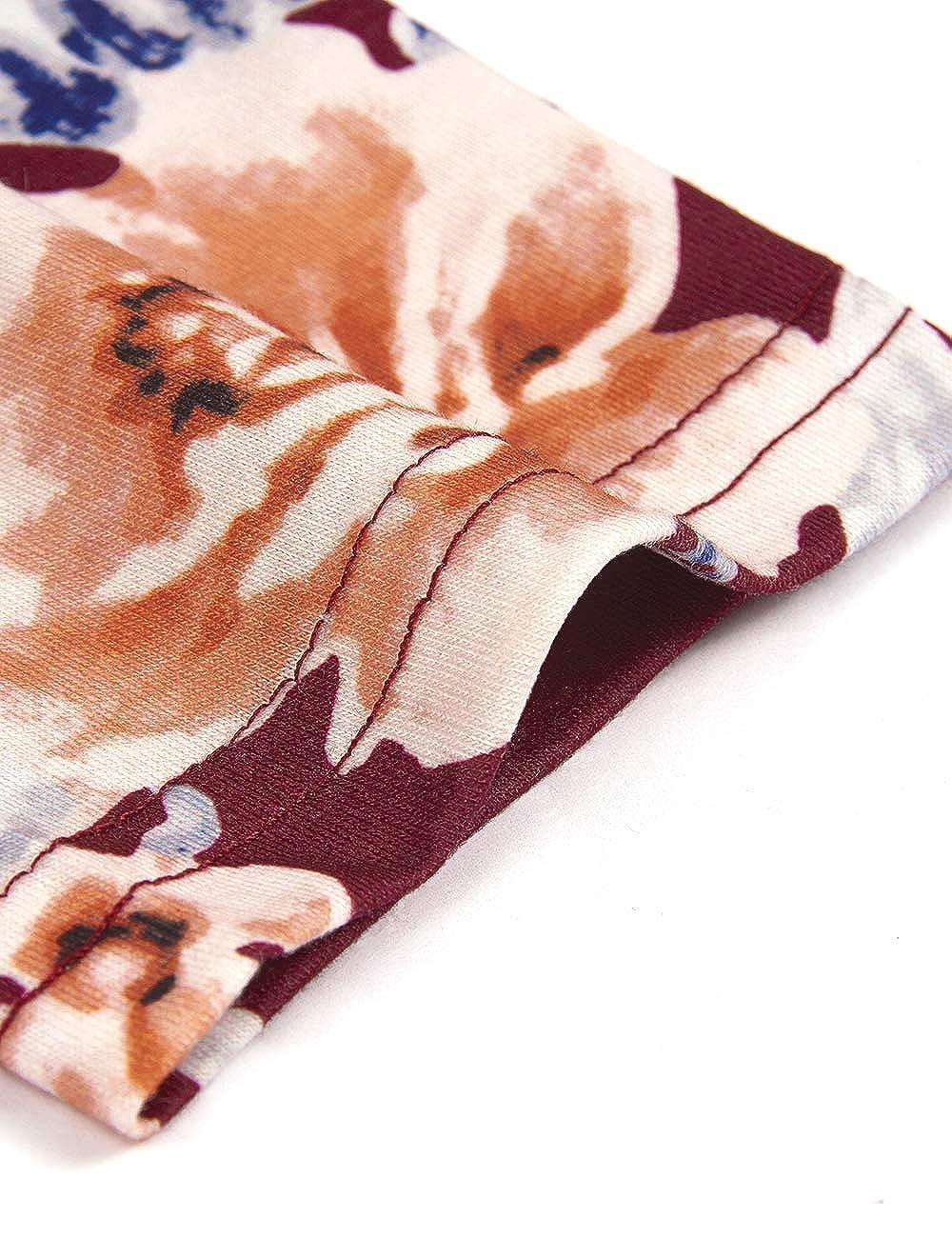 Becanbe Womens Crewneck Long Sleeve Floral Shirts Flared Casual Maternity Nursing Tops Breastfeeding Shirts