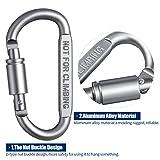 Petutu Carabiner Clips Aluminum D Ring Locking
