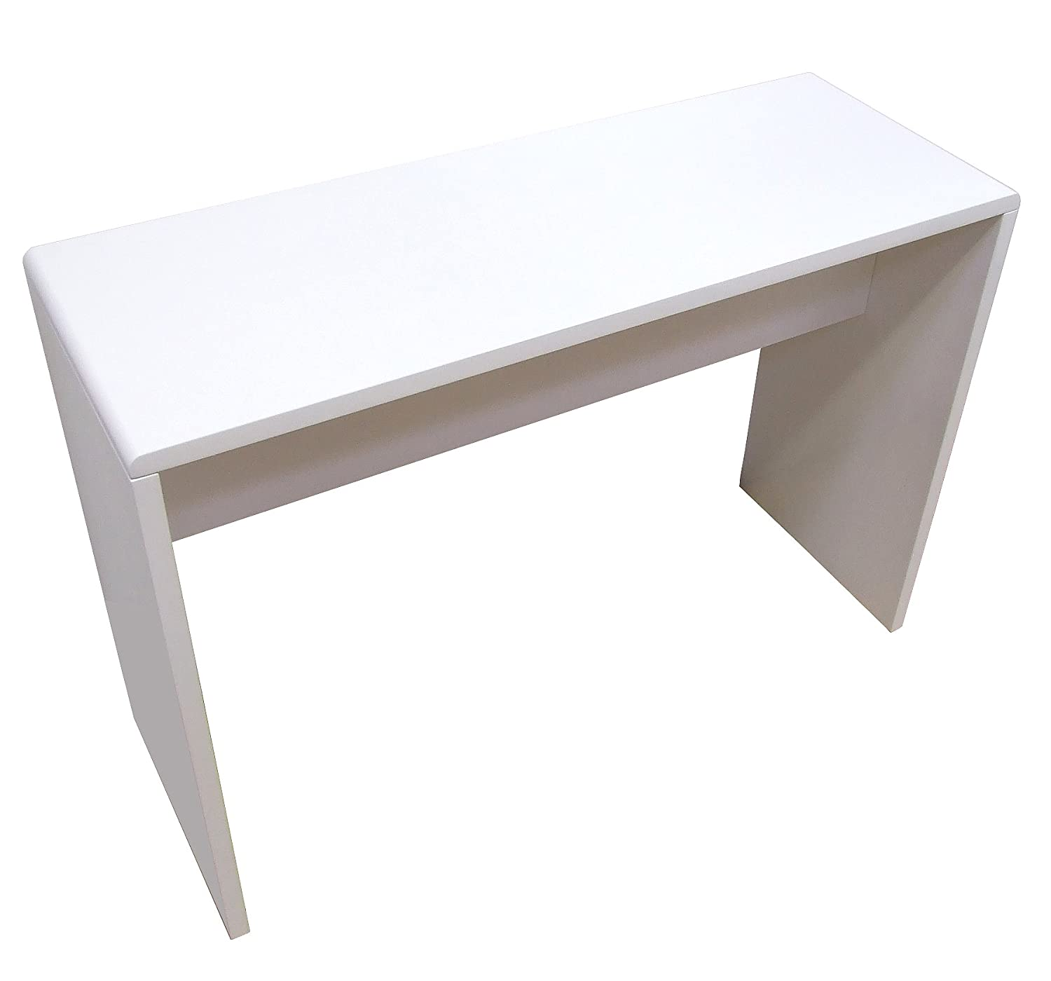 White high gloss console tabledesk amazon kitchen home geotapseo Gallery