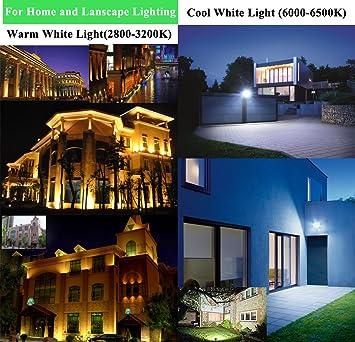 20pcs 30W LED Foco Proyector,ALPHA DIMA IP65 Impermeable Luz de Seguridad,Iluminación Interior y Exterior,Lámpara Blanco Cálido 2800K Negro: Amazon.es: ...