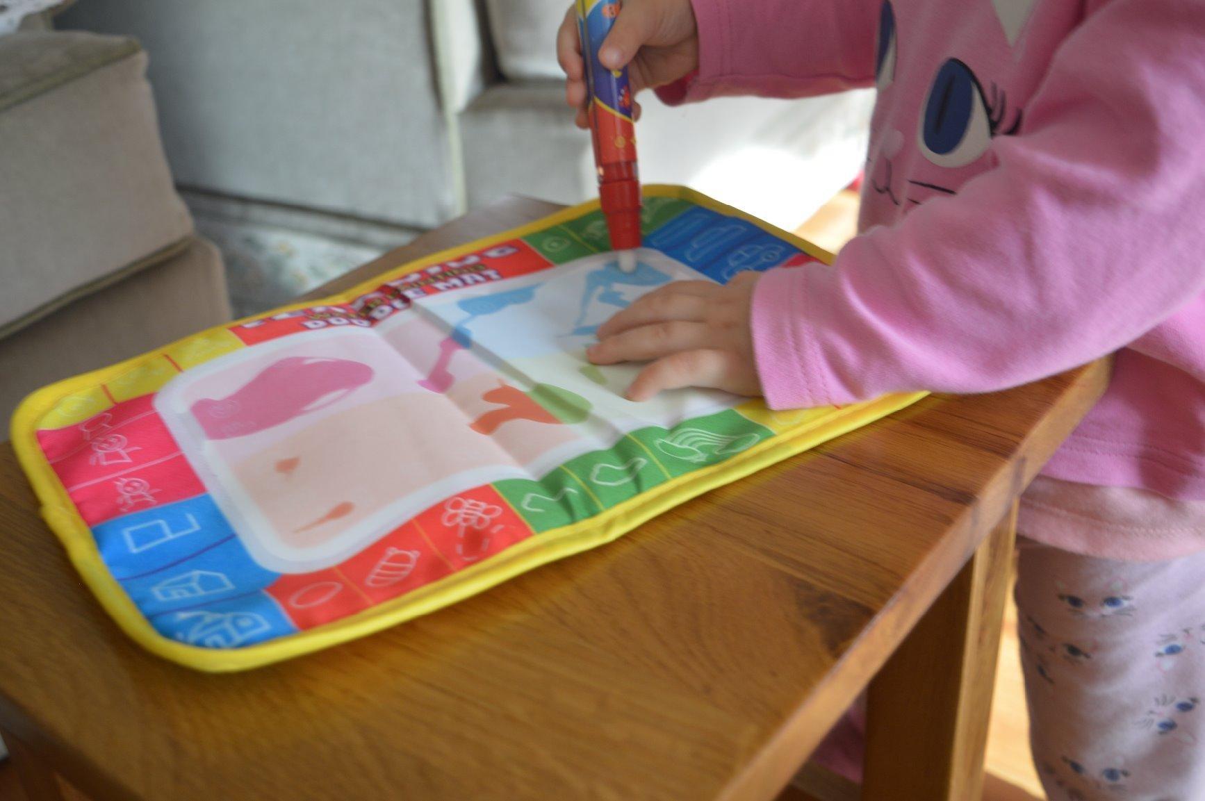 Christmas Gift, Tonsee 29X19cm Kids Water Drawing Painting Writing Mat Board & Magic Pen