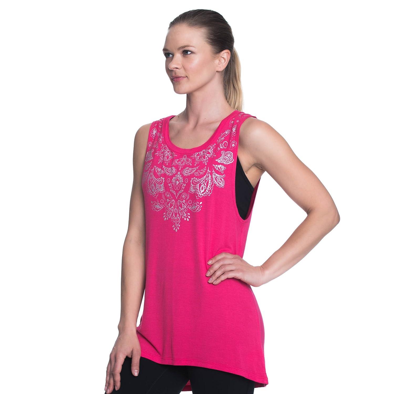 Gaiam Womens Graphic Active Crewneck Tank Top Yoga Shirt for Women