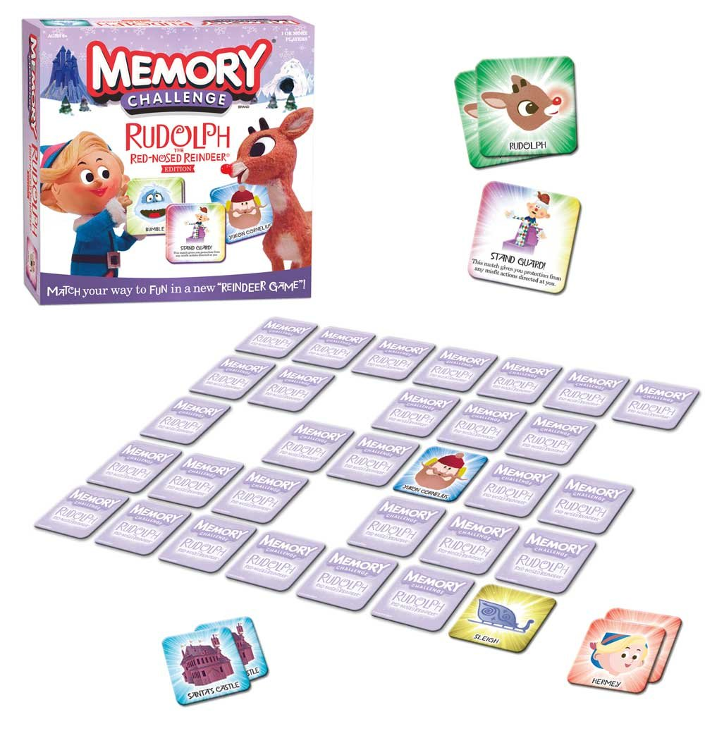 amazon com rudolph the red nosed reindeer memory game toys u0026 games
