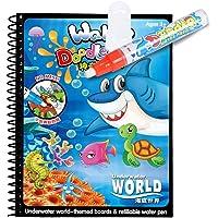 كتاب تلوين مائي سحري بنمط الرسوم المتحركة، كتاب نشاطي للألوان المائية، كتاب رسم مائي سحري مع قلم مائي، ألعاب رسم…