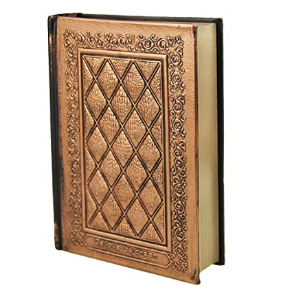 Amazon Doshop Vintage Embossed Leather Hardcover Notebook