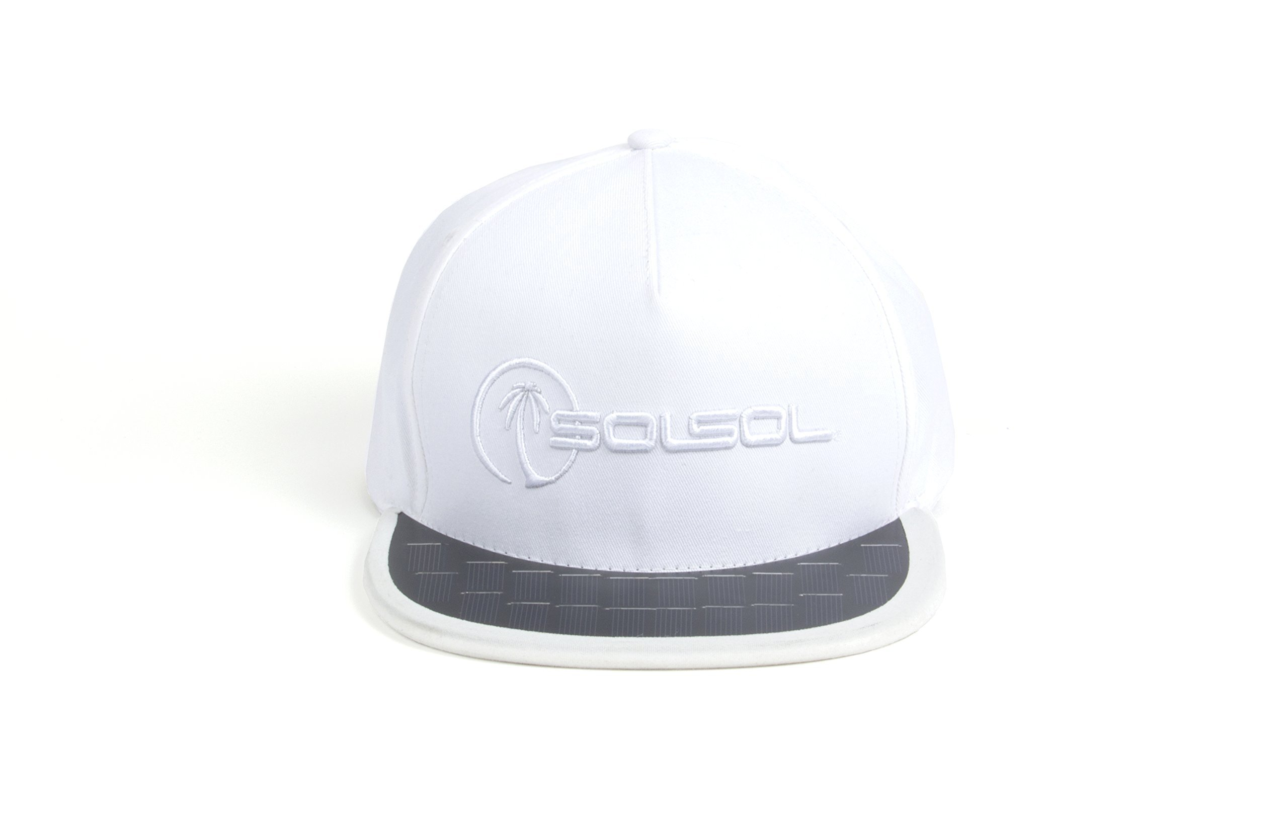 Solsol Solar Hat Charger For Iphone And Android Smartphones White/White 12