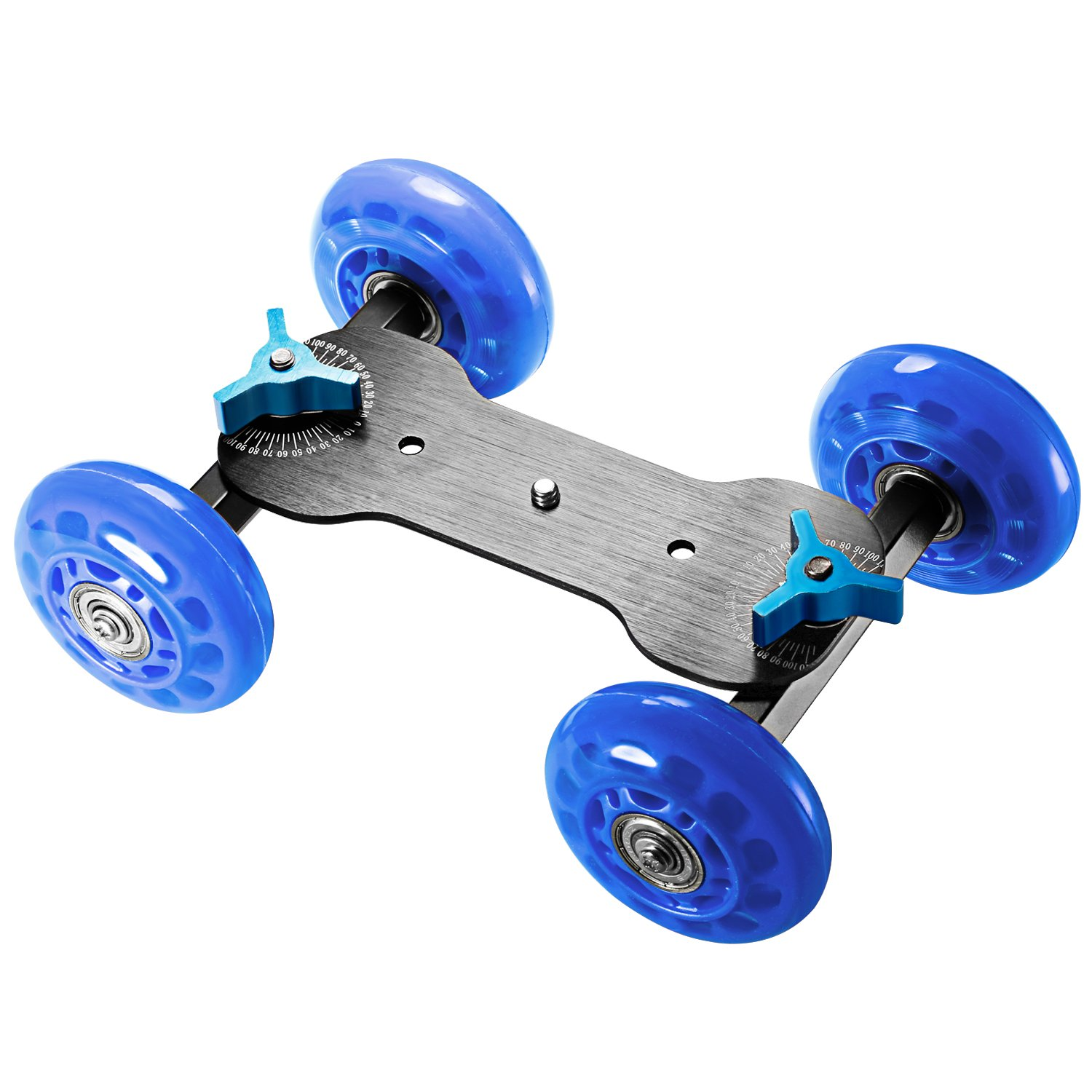 Neewer Professional Tabletop Mobile Rolling Slider Dolly Car Skater Video Track Rail for Digital SLR Cameras & Video Camcorders/LED Lights/flash light (Blue)
