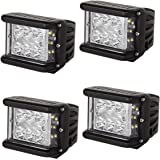 LED Light Bar 4' 240W Full Reflector Side Luminate Both Sides Led Work Light SPOT FLOOD COMBO Driving Lamp For Off-road Truck Car ATV SUV Jeep Boat 4WD ATV Auxiliary (4 PCS)