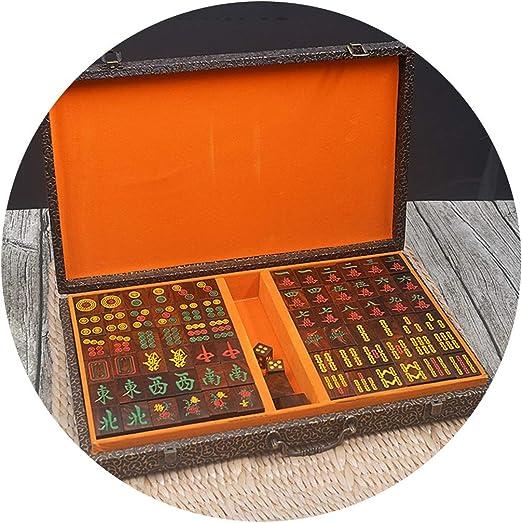 Juegos de Mesa Mahjong Hogar Mahjong Grande con Caja Mahjong Chino ...