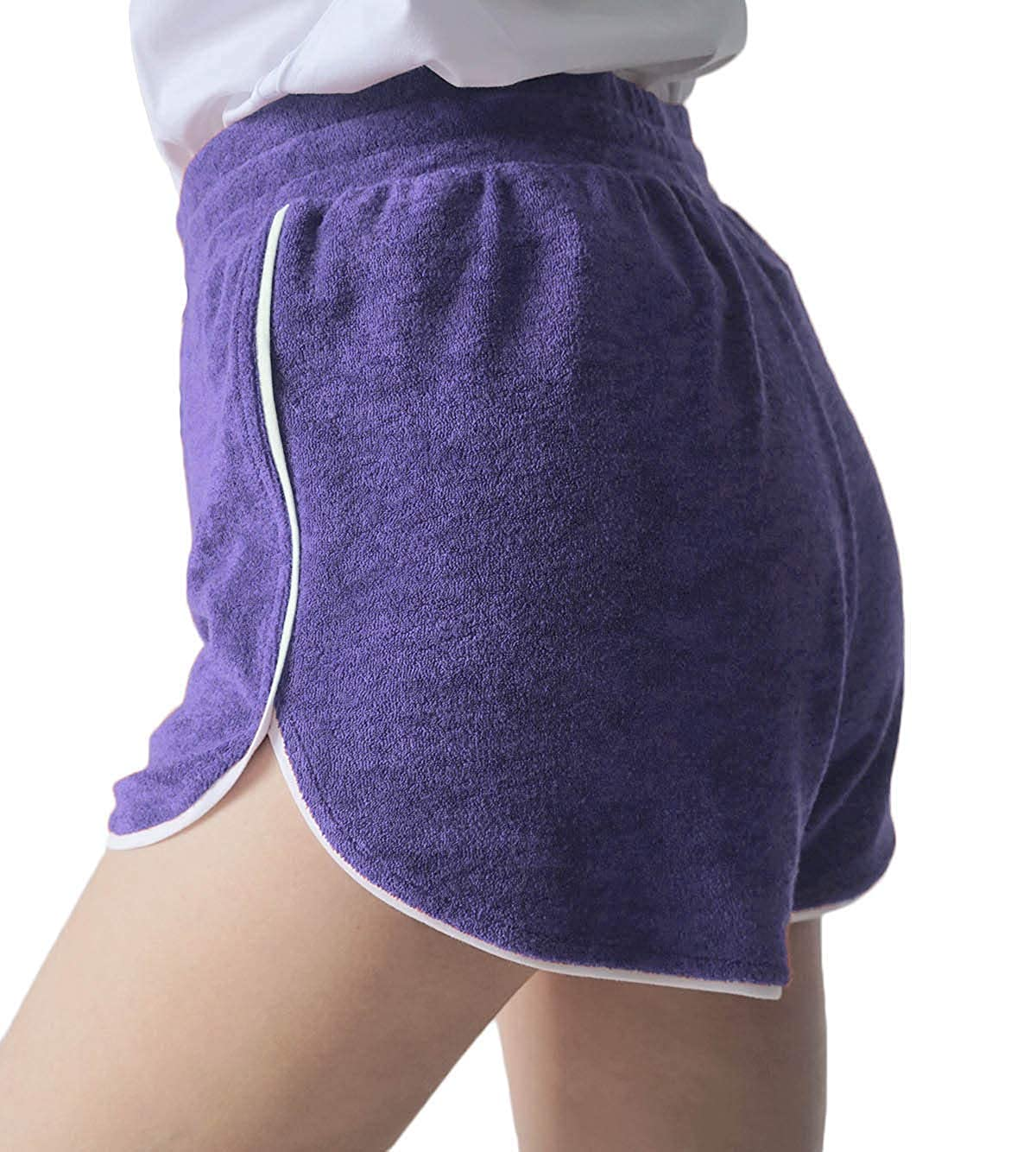 Womens Terry Shorts Casual Lounge Short Pants Running Workout Hot Pants