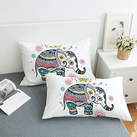 Amazon.com: Koongso Boho Mandala Fundas de almohada 2 piezas ...