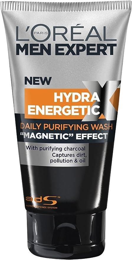 LOreal Men Expert Hydra Energetic París Xtreme Gel Limpiador 150ml Carbón magnética: Amazon.es: Belleza
