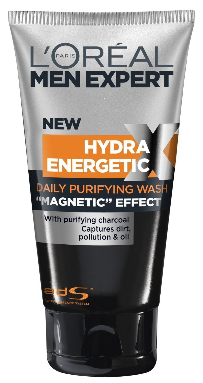 L'Oreal Men Expert Hydra Energetic Black Charcoal Wash, 5 Ounce
