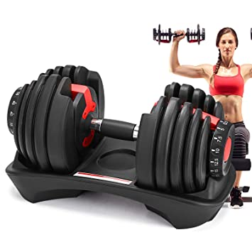 Moracle Mancuernas de Fitness Mancuerna Ajustable de Hierro Fundido para Gimnasio 4,5 kg a