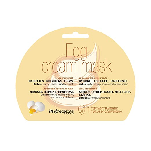 Amazon.com : iN.gredients Cream Mask, Banana Honey - Moisturizing, Cleansing, Exfoliating Pore Refiner for Dehydrated, Sensitive Skin - Made in Korea : ...