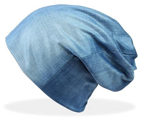Beanie Mütze Damen in Jeans Optik Mütze Jeggings Optik Damen