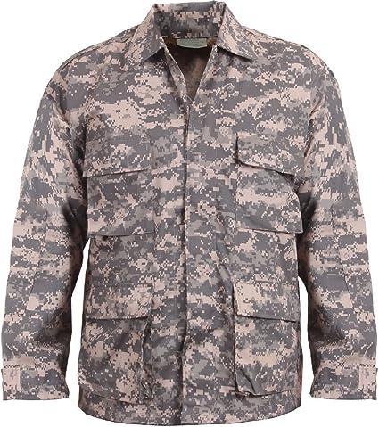 BDU SHIRT Coat ARMY STYLE 4 POCKETS CAMOUFLAGE SIZES XS-2XL