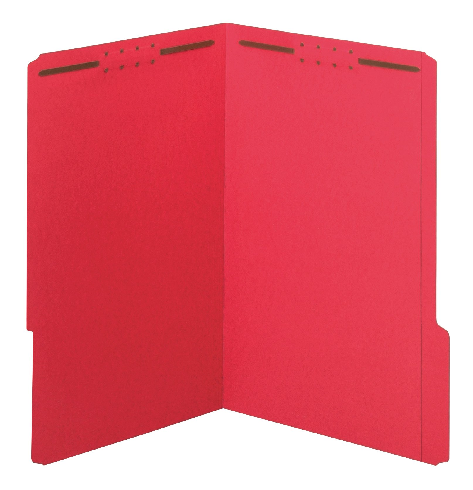 Globe-Weis/Pendaflex Fastener Folders, 1/3 Cut, Reinforced Tab, 2 Fasteners, Legal Size, Red, 50 Folders Per Box (27740)