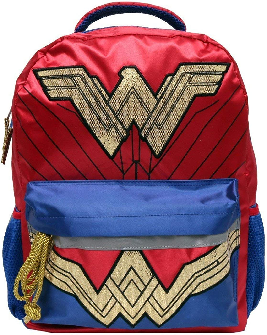 "Wonder Woman Gold Glitter 16"" Kids' Backpack"