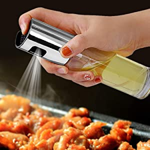 Olive Oil Sprayer Spritzer Bottle for Cooking Oil Dispenser Vinegar Bottle-Air Fryer/Kitchen Cooking/Frying/Salad/Baking/BBQ