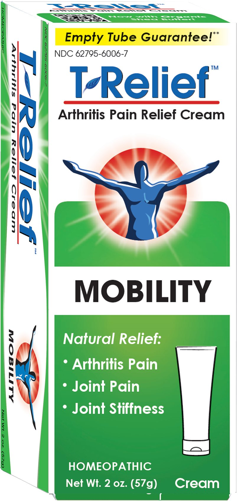 T-Relief Arthritis Ointment - Pain Relief Cream for Minor Arthritis Pain and Joint Stiffness - Homeopathic Formula with Arnica - 2 ounce