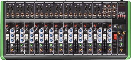 Pro Bass PM-1224BT - Consola de mezclas profesional con Bluetooth ...